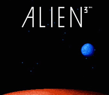 Alien 3 Nes title screen